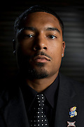 DALLAS, TX - JULY 21:  Kansas safety Cassius Sendish poses for a portrait during the Big 12 Media Day on July 21, 2014 at the Omni Hotel in Dallas, Texas.  (Photo by Cooper Neill/Getty Images) *** Local Caption *** Cassius Snedish