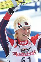 LAHTIS 010215 - SKIDVM<br />Skid-vm startade idag torsdag 15 februari med 15 km klassik stil i Lahtis i Finland.<br />Bilden: Storfavoriten Bente Skari frŒn Norge vann guldet med dryga sju sekunder.<br />Foto: Henrik Montgomery  Kod: 1066<br />** F-BILD