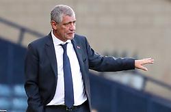 Portugal head coach Fernando Santos gestures on the touchline during the International Friendly match at Hampden Park, Glasgow.