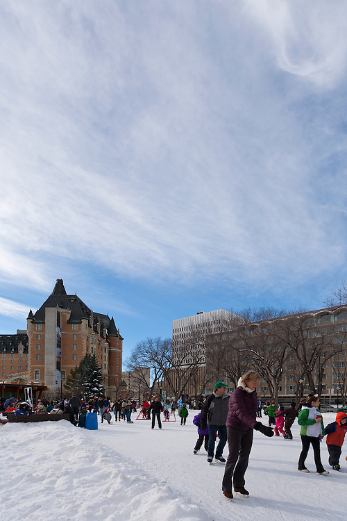 Meewasin Skating Party, first annual public skating party, at Cameco Meewasin Skaters' Rink in PotashCorp Plaza, Kiwanis Memorial Park (north of the Bessborough Hotel), Spadina Crescent between 21st and 22nd Streets.