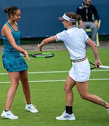 13-06-2019 NED: Libema Open, Rosmalen<br /> Grass Court Tennis Championships / Bibiane Schoofs NED and Lesley Kerkhove NED