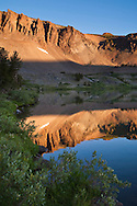 Morning light at Leavitt Lake, Toiyabe Natilonal Forest, Mono County, California