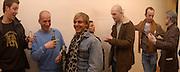 Max Friedman, Jamie Stimpson, Honey Luard, ( behind) Jake Chapman and Johnnie Shand Kidd, Opening of Carl Freidman's Counter Editions, Charlotte Rd. 11 March 2003. © Copyright Photograph by Dafydd Jones 66 Stockwell Park Rd. London SW9 0DA Tel 020 7733 0108 www.dafjones.com