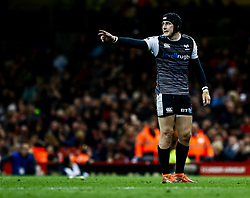 Sam Davies of Ospreys<br /> <br /> Photographer Simon King/Replay Images<br /> <br /> Guinness PRO14 Round 21 - Cardiff Blues v Ospreys - Saturday 27th April 2019 - Principality Stadium - Cardiff<br /> <br /> World Copyright © Replay Images . All rights reserved. info@replayimages.co.uk - http://replayimages.co.uk