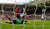 Photo: Richard Lane/Sportsbeat Images.<br /> Birmingham City v Manchester United. The FA Barclays Premiership. 29/09/2007. <br /> United's Cristiano Ronaldo puts the ball past City's Maik Taylor to score the only goal of the game.