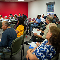 Many folks attended the Wage Theft Forum at the UNM Gallup North campus Tuesday evening in Gallup.