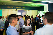Adrianna Bertoli of XL Construction socializes during the Silicon Valley Business Journal's Annual Silicon Valley Structures Awards event at the Fairmont San Jose in San Jose, California, on September 21, 2017. (Stan Olszewski for Silicon Valley Business Journal)