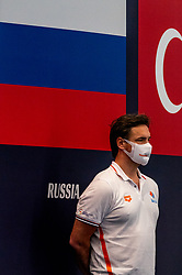 Coach Harry van der Meer of the Netherlands against France during the Olympic qualifying tournament. The Dutch water polo players are on the hunt for a starting ticket for the Olympic Games on February 17, 2021 in Rotterdam