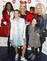 Danni Park-Dempsey, Lydia Rose Bright & Debbie Bright, Disney Store VIP Christmas Party, The Disney Store Oxford Street, London UK, 03 November 2015, Photo by Brett D. Cove