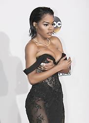 November 20, 2016 - Los Angeles, California, U.S - Teyana Taylor on the Red Carpet of the 2016 American Music  Awards held on Sunday, November 20, 2016 at the Microsoft  Theatre in Los Angeles, California. (Credit Image: © Prensa Internacional via ZUMA Wire)