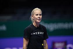 October 22, 2018 - Kallang, SINGAPORE - Rennae Stubbs during practice at the 2018 WTA Finals tennis tournament (Credit Image: © AFP7 via ZUMA Wire)