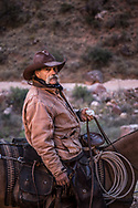 Grand Canyon National Park, South Rim, Bright Angel Trail, mule wrangler, Arizona
