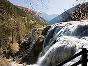 Waterfall in the Jiuzhaigou National Park, Sichuan Province, China