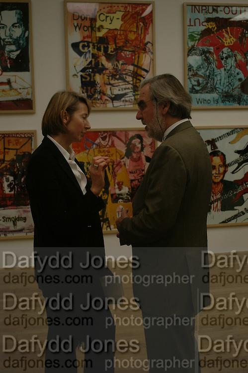 Gisela Captain AND MARC BLONDEAU. Martin Kippenberger, Tate Modern. 7 Febriuary 2006. -DO NOT ARCHIVE-© Copyright Photograph by Dafydd Jones 66 Stockwell Park Rd. London SW9 0DA Tel 020 7733 0108 www.dafjones.com