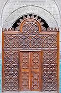 Entrance door of the medersa el-Attarine in Fès, Morocco.