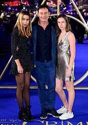 Jason Isaacs and daughters Lily Isaacs and Ruby Isaacs attending the Fantastic Beasts: The Crimes of Grindelwald UK premiere held at Leicester Square, London.