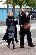 UTRECHT, 27-09-2020 , Kinepolis Bioscoop Jaarbeurs<br /> <br /> Première I.M.Vliegende Hollanders op het Nederlands Film Festival 2020 bij Kinepolis Bioscoop Jaarbeurs, Utrecht.<br /> <br /> Op de foto:   Connie Palmen en Olga Zuiderhoek