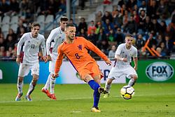 Bart Ramselaar of Jong Oranje 3-0 during the EURO U21 2017 qualifying match between Netherlands U21 and Latvia U21 at the Vijverberg stadium on October 06, 2017 in Doetinchem, The Netherlands