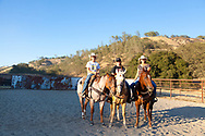 Work Family Guest Ranch, San Miguel, California offers horseback rides through the hills on the 12,000 acre property. Kelly work with her two daughers, Mattie and Johanna