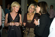 ANDREA CATHERWOOD, EMILY MAITLESS AND LADY MEYER, Book launch for Shire Hell by Rachel Johnson. the Strand. London. 15 May 2008.  *** Local Caption *** -DO NOT ARCHIVE-© Copyright Photograph by Dafydd Jones. 248 Clapham Rd. London SW9 0PZ. Tel 0207 820 0771. www.dafjones.com.