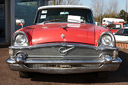 © Licensed to London News Pictures.  03/03/2012. OXFORD, UK. A 1956 Packard Patrician Sedan forms part of a classic car auction sale being held at Bonhams Oxford today. The car is estimated to sell for £5,000-7,000. Photo credit :  Cliff Hide/LNP
