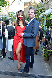 VISCOUNT & VISCOUNTESS WEYMOUTH at a party to celebrate 'A Year In The Garden' celebrating the first year of The Ivy Chelsea Garden, 197 King's Road, London on 16th May 2016.
