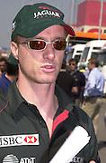 Eddie Irvine. Grand Prix, Saturday, 28/4/01. Barcelona. 27 April 2001. © Copyright Photograph by Dafydd Jones 66 Stockwell Park Rd. London SW9 0DA Tel 020 7733 0108 www.dafjones.com