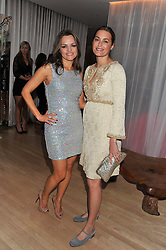 Left to right, MARIA HATZISTEFANIS and YASMIN LE BON at the 2012 Rodial Beautiful Awards held at The Sanderson Hotel, Berners Street, London on 6th March 2012.