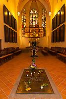 Johann Sebastian Bach's grave, St. Thomas Church (Thomaskirche), Leipzig, Saxony, Germany