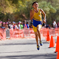 100612       Cable Hoover<br /> <br /> Zuni Thunderbird McKenz Leekya sprints to a first place finish in the Gallup Invitational Saturday at Red Rock Park.