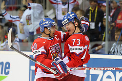 15.04.2011, Orange Arena, Bratislava, SVK, IIHF 2011 World Championship, Russia vs Czech Republic, im Bild ..PRUCHA CELEBRATES 2ND GOAL. EXPA Pictures © 2011, PhotoCredit: EXPA/ EXPA/ Newspix/ .Tadeusz Bacal +++++ ATTENTION - FOR AUSTRIA/(AUT), SLOVENIA/(SLO), SERBIA/(SRB), CROATIA/(CRO), SWISS/(SUI) and SWEDEN/(SWE) CLIENT ONLY +++++