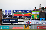 Marine Flags during the The FA Cup match between Marine and Tottenham Hotspur at Marine Travel Arena, Great Crosby, United Kingdom on 10 January 2021.