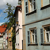 Europe, Germany, Bamberg. Old Town architecture of Bamberg, a UNESCO World Heritage Site.