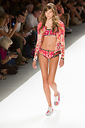 Print swimsuit with matching jacket. By Custo Barcelona at the Spring 2013 Fashion Week show in New York.