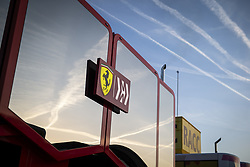 February 18, 2019 - Barcelona, Spain - Scuderia Ferrari SF90, motorhome during Formula 1 winter tests from February 18 to 21, 2019 at Barcelona, Spain - Photo Motorsports: FIA Formula One World Championship 2019, Test in Barcelona, (Credit Image: © Hoch Zwei via ZUMA Wire)