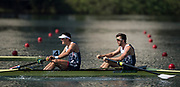 "Rio de Janeiro. BRAZIL. GBR M2-. Semi Final A/B. bow. Alan SINCLAIR and Stewart INNES.  2016 Olympic Rowing Regatta. Lagoa Stadium,<br /> Copacabana,  ""Olympic Summer Games""<br /> Rodrigo de Freitas Lagoon, Lagoa.   Tuesday  09/08/2016 <br /> <br /> [Mandatory Credit; Peter SPURRIER/Intersport Images]"