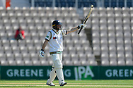 50 for Adam Lyth of Yorkshire -Adam Lyth of Yorkshire celebrates scoring a half century during the Specsavers County Champ Div 1 match between Hampshire County Cricket Club and Yorkshire County Cricket Club at the Ageas Bowl, Southampton, United Kingdom on 11 April 2019.