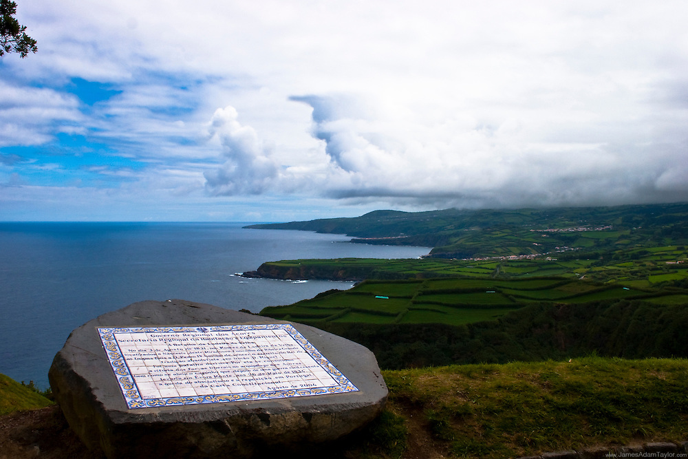 scenic overlook,  San Miguel, Azores, Portugal.