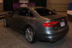CHARLOTTE, NORTH CAROLINA - NOVEMBER 20, 2014: Audi S4 sedan on display during the 2014 Charlotte International Auto Show at the Charlotte Convention Center.