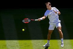 July 2, 2018 - London, United Kingdom - 180702 Dusan Lajovic of Serbia during day 1 of Wimbledon on July 2, 2018 in London..Photo: Ludvig Thunman / BILDBYRN / kod LT / 35496 (Credit Image: © Ludvig Thunman/Bildbyran via ZUMA Press)