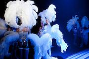 Kirrwiller, France. 14 Février 2011..Juste avant le début du spectacle du Royal Palace, le troisieme cabaret de France dans un village de cinq cents habitants en Alsace.