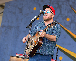 May 3, 2018 - New Orleans, Louisiana, U.S - CRITTER FUQUA of Old Crow Medicine Show during 2018 New Orleans Jazz and Heritage Festival at Race Course Fair Grounds in New Orleans, Louisiana (Credit Image: © Daniel DeSlover via ZUMA Wire)
