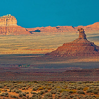 Sandstone mesas and towers rise in Valley of the Gods, which was briefly protected as part of Bears Ears National Monument until the Trump administration downsized it boundaries in 2017.