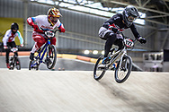 #122 (TOUGAS Alex) CAN during practice at the 2019 UCI BMX Supercross World Cup in Manchester, Great Britain