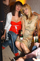 Left to right, SADIE FROST and JEMIMA FRENCH at a party to celebrate the opeing of the new Paul & Joe Boutique at 134 Sloane Street, London SW1 on 14th April 2005.<br /><br />NON EXCLUSIVE - WORLD RIGHTS