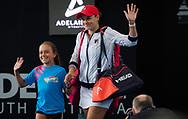 Ashleigh Barty of Australia in action during her quarter-final match at the 2020 Adelaide International WTA Premier tennis tournament against Marketa Vondrousova of the Czech Republic. Photo Rob Prange / Spain ProSportsImages / DPPI / ProSportsImages / DPPI