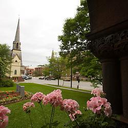 Main Street from the Fairbanks Museum in St Johnsbury Vermont USA