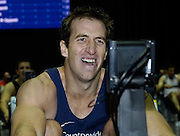 Birmingham, GREAT BRITAIN, Men's open winner, graham BENTON, starts to show the agony in the closing stages of the race,  at the British Indoor Rowing Championships, National Indoor Arena, Birmingham, ENGLAND. 12/11/2006, [Photo, Peter Spurrier/Intersport-images].....