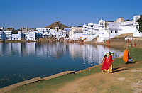 Inde. Rajasthan. Lac de Pushkar. // India. Rajasthan. Pushkar lake.