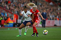 Football - 2017 / 2018 Womens World Cup Qualifier - UEFA Group One: England vs. Wales<br /> <br /> Englands Nikita Parris and Charlotte Estcourt of Wales tussle for the ball at St Mary's<br /> <br /> COLORSPORT/SHAUN BOGGUST